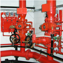 Red Mild Steel Fire Hydrant System, For Commercial