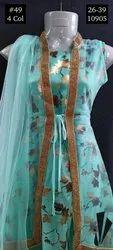 Wedding Wear Silk Girls Gown 49, Size: 26-39, Age: 5y To 12y