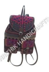 Cotton Fabric Back Pack Bag