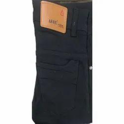 Men's Plain Denim Black Jeans