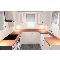 Wooden UP Furnitures Commercial Modular Kitchen