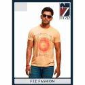 Fitziz Cotton Fashionable Round Neck T-shirt