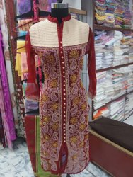 Thread Embroidery Chikan Kurti Collection for Womens