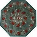 Marble Inlay Octagonal Table Top