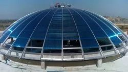 Blue UV Coated Polycarbonate Roofing Sheet