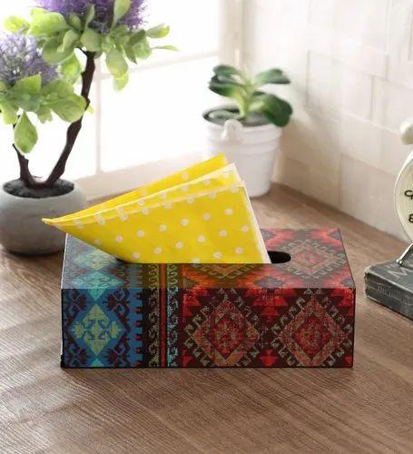 MDF Wooden Tissue Box, Size: 9 X 5 X 2.5 Inch, Shape: Rectangular
