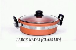 Clay Organic Large Kadai with Glass Lid