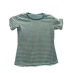 Round Neck Casual Ladies Striped T -Shirt