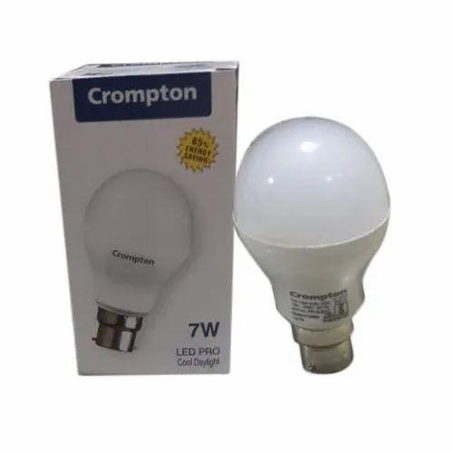 Round 7 W 7w Crompton Led Bulb Rs 95 Piece Balaji Lights Id 21028837512