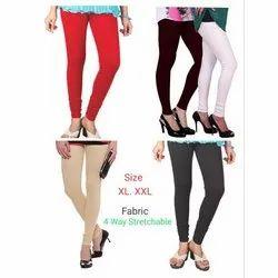 Lycra Cotton Plain Ladies Churidar Legging