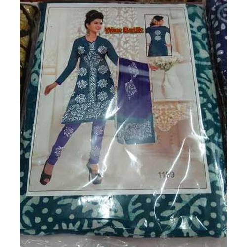 Unstitched Printed Batik Suit