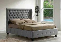 Assam teak wood European Upholstery Bed