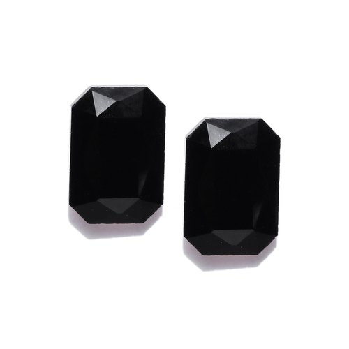 Jewels Black Gold Plated Geometric Studs at Rs 171  piece  a55c2208816a