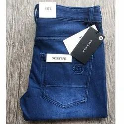Skin Fit Denim Skinny Fit Men Jeans, Waist Size: 32