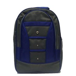 Proera Polyester Blue And Grey School Backpack