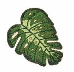 GREEN LEAF BEEDS DESIGNER TABLE RUNNER