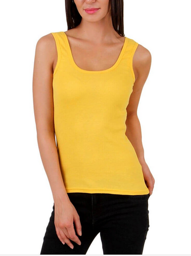 Femza Tube Tank Strap Camisole For Girls And Women Yellow