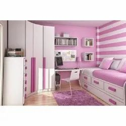 Pink Wooden Modern Kids Bedroom Sets For Home Size Dimension Small Rs 65000 Set Id 21671116897