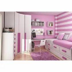 Pink Wooden Modern Kids Bedroom Sets