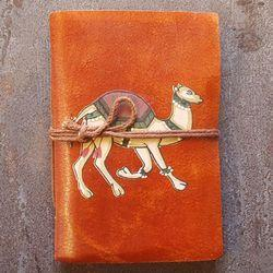Camel Printed Handmade Paper Journal