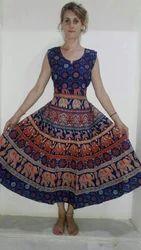 Bagru Cotton Maxi Dress