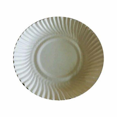 White Plain Round Paper Plate  sc 1 st  IndiaMART & White Plain Round Paper Plate Rs 4.75 /packet Saini Paper Plates ...