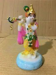 Multicolor resine Resin Krishna Statue