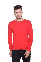 Casual Wear Solid Full Sleeves T-shirts for Men