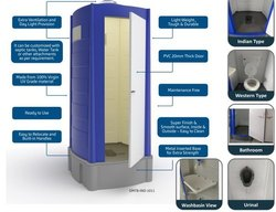 Epsilon Premium Quality Portable Toilet Block
