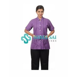 Hospital Nurse Colored Half Sleeves Top With Trouser