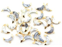 Gold Plated Moon Shape Pendant