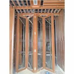 Stainless Steel Folding Doors Partition Door Sliding, For Home, Size/Dimension: 1000 Mm