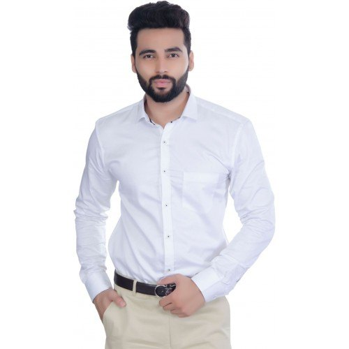 10662772e1753 White Formal Wear Cotton Mens Formal Shirts