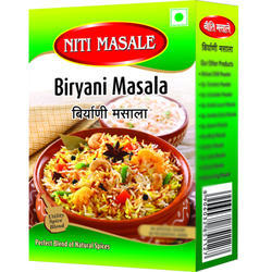 Niti Masale 50 g Biryani Masala Powder, Packaging: Packets