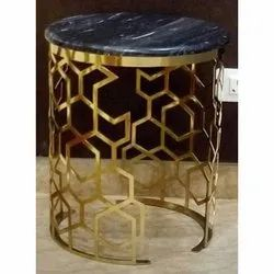 Round Traditional Brass Table