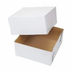 White Cake Corrugated Box without Window