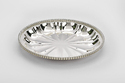 MeLANgE Silver Plated Round Design Beaded Tray