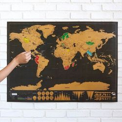 World Scratch Map for Travel
