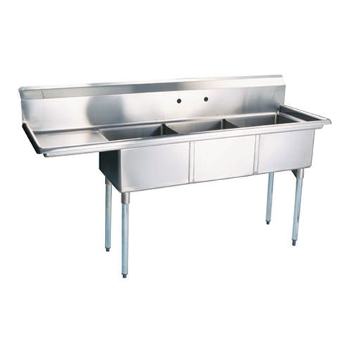 3 Bay Sink View Specifications Details Of Stainless Steel Sink