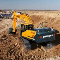 Hyundai excavator poclain machine rental