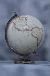 Almunium Physical Map Globe With Metal Stand