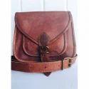 Brown Leather Ladies Sling Bag