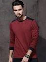 Full Sleeve Red T-Shirt For Mens