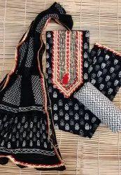 Tridev Febrics 45 Inch Pure Cotton Magzi Work Suit Fabric, Machine wash
