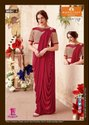 Indian Ethnic Designer Party Wear Red Saree