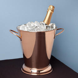 Gold And Copper Ice Bucket