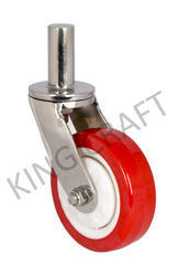 50 Mm Stainless Steel Pin Type Fabricated Swivel Caster