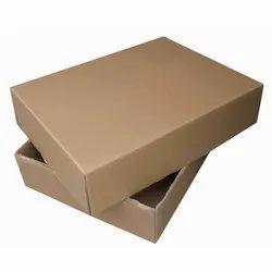 Plain Corrugated Kraft Paper Mono Carton Box, Capacity: 3 - 5 Kg