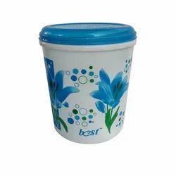 Printed Plastic Round Container