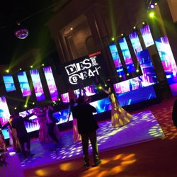led screen backdrop wedding